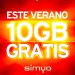 Simyo ofrecerá 10GB si tienes al menos 100MB este verano solo una vez.