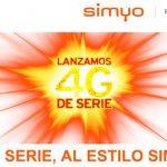 Llega el 4G a SIMYO sin coste: Se necesita cambiar de SIM (cambio sin coste).