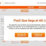 SIMYO se prepara para el 4G: Avisa a clientes que compren un móvil sin 4G.