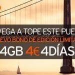 SIMYO lanza un bono de 4GB por 4€ para uso 4 días hasta 15 Octubre.
