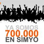 Simyo anuncia 700 000 dando el mérito a sus usuarios.
