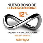 SIMYO lanza bono ilimitado de voz por 12€ en prepago y contrato.
