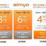 SIMYO mejora todas sus tarifas con 100MB extra sin incrementar el coste.