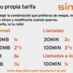 SIMYO mejora sus tarifas de prepago y contrato con tarifas adaptables.