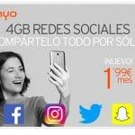 SIMYO lanza un bono social con hasta 4GB de datos por 1,99€