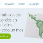 Skype regala el primer mes de llamadas a fijos de americana latina por 8€/mes sin limite de minutos.