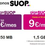 Suop comercializa temporalmente por 9€ 1,5GB en prepago.