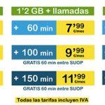 SUOP mejora sus tarifas de contrato y lanza 4GB y 1000 por 24,99€/mes.