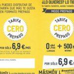 Llega la tarifa CERO en prepago en tiendas distribuidoras de MASMOVIL con 500MB por 6,9€.