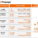 ORANGE cambia sus tarifas prepago con Roaming incluido en Europa.
