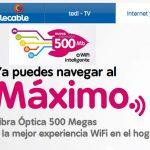Telecable apuesta por 500MB por 10€/mes más sin simetría.