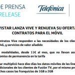 Movistar confirma las nuevas tarifas VIVE: Mejoran en tráfico y precio pero no mejoran a OMVs ni a ORANGE.
