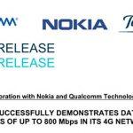 TELEFONICA presenta un 4G casi 5G con NOKIA y QUALCOMM 800MB/seg.
