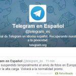 Telegram sigue teniendo problemas tras la vuelta de #whatsapp. Eliminan posibilidad de enviar imágenes temporalmente.