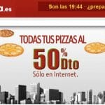 Telepizza: Una oportunidad de ahorrar comprando al 50% hasta final de mes.