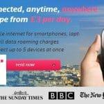 Tep Wireless ofrece en todo Europa por 3€/dia 500MB de trafico en cualquier país, una alternativa a Droam.