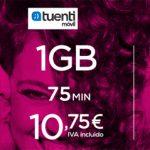 Tuenti iguala la oferta de AMENA sin incluir SMS con red Movistar 6€+IVA 1GB+0ct/min en prepago y contrato.