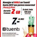 TUENTI ofrece 2GB y 120 minutos de VozDigital en Media Markt.