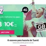 TUENTI lanza una tarifa de contrato que no cobra en exceso: 10€ 6GB+50min