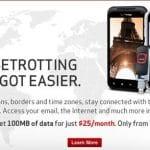 Verizon ofrece una tarifa de datos con Roaming en 120 paises por 18 céntimos por MB en tramos de 100MB.