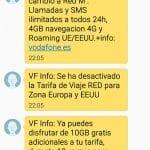 ¿Qué ofrece VODAFONE cuando intentan irse a YOIGO? 10GB 12 meses.