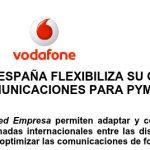 VODAFONE flexibiliza su oferta para pymes con bonos de datos compartidos y tarifas de voz flexibles según consumo.