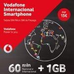 Vodafone lanza Vodafone Internacional Smartphone, por 15€ 1GB+ 60 minutos a 35 países en prepago.