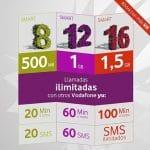 Vodafone mejora sus tarifas prepago Yu con llamadas y sms ilimitados para competir con TUENTI.