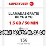 VODAFONE YU ofrece 2×1 en GBs en su prepago.