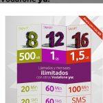 Vodafone saca una nueva tarifa de contrato Yu con 200 min + 1GB+ ilimit. minutos y sms entre YU por 20€/mes.