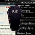 WhatsAPP deja sin servicio a los usuarios de WhatsAPP plus durante 24 horas. Cierran la APP.