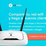 Wiman, un producto muy interesante para locales: Social WIFI.