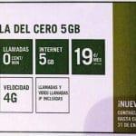 Yoigo lanza una promoción temporal con una tarifa CERO de 5GB por 19€ con 4G.  #vivaladiferencia