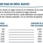 Pagar a plazos móviles con Yoigo tendrá una pequeña comisión inicial de máximo 30€.