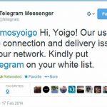El problema de no prohibir la total neutralidad de la red: Yoigo impide el uso de Telegram al considerarlo un programa de voz IP.