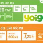 YOIGO lanza en prepago una nueva tarifa con 1GB+20 minutos.  ¿Pero?