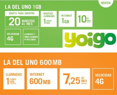 Yoigo lanza en prepago una nueva tarifa con 1gb 20 minutos for Oficinas yoigo