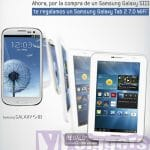 Yoigo regalará si compramos un Samsung Galaxy S3 la Samsung Galaxy tab con 8GB en tiendas oficiales Yoigo en Noviembre.
