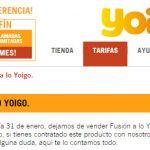 YOIGO renuncia a la convergencia cerrando Fusión a lo YOIGO