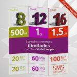 Vodafone YU en contrato 20€/mes + IVA con 1,5GB y 200 minutos con ilimitadas entre YU.