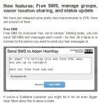 ZYB mejora sus servicios: 100 sms gratis al mes a tus contactos.